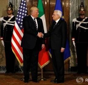 이탈리아 방문한 트럼프 미국 대통령