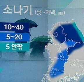 [날씨] 저녁까지 곳곳 소나기..한낮 30도 안팎