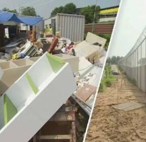 미군 벽 만든 뒤 '물난리' 논란..시름 잠긴 평택 주민들