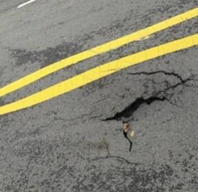 폭우로 인천지하철 2호선 가재울역 도로 땅꺼짐