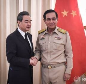 쁘라윳 짠오차 타이 총리 만난 왕이 중국 외교부장
