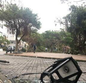 중국, 거리를 초토화시킨 태풍 '하토'의 위력