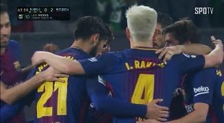 5분 만에 또다시 빛난 바르셀로나의 공격진, 메시의 추가골! / 후반 19분