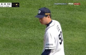 '역시 고교랭킹 1위' 안정적인 투구로 첫승 기록하는 이영하