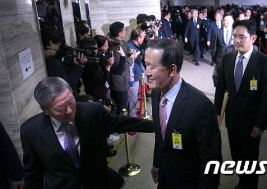 """대기업 회장들 """"미르·K 출연은 대가 없이"""""""