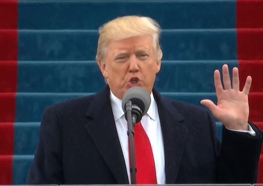트럼프 美 대통령 취임..'미국 우선주의' 천명