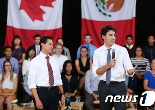 캐나다-멕시코 정상, NAFTA 재협상 공조 확인
