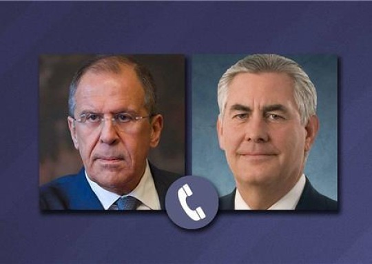 """미국·러시아 외무 전화회담 """"시리아 등 논의"""""""