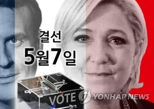 """프 결선 앞둔 유럽 """"마크롱 당선"""" vs """"르펜이 희망"""""""