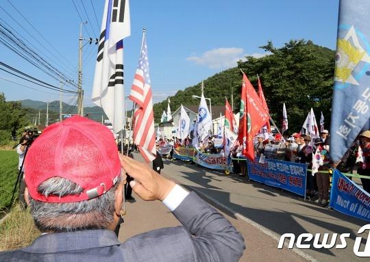 """성주 소성리 주민들 """"보수단체 욕설 등 위협에 고통"""""""