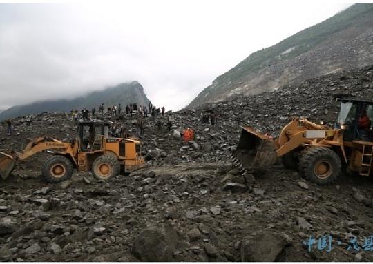 中 쓰촨성 산사태, 141명 실종..3명 구조
