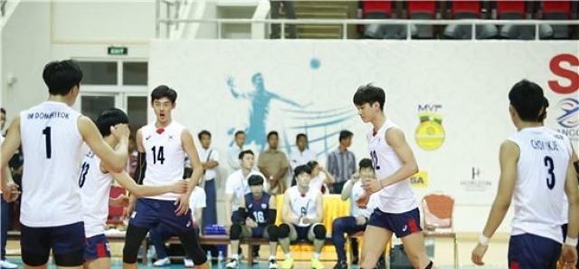한국 유스男배구, 아시아선수권 첫 경기서 승리