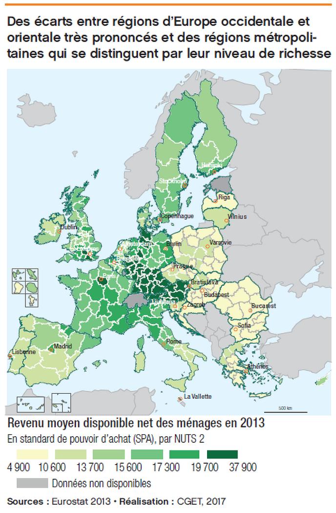 EU 국가내 지역별 경제력 차이