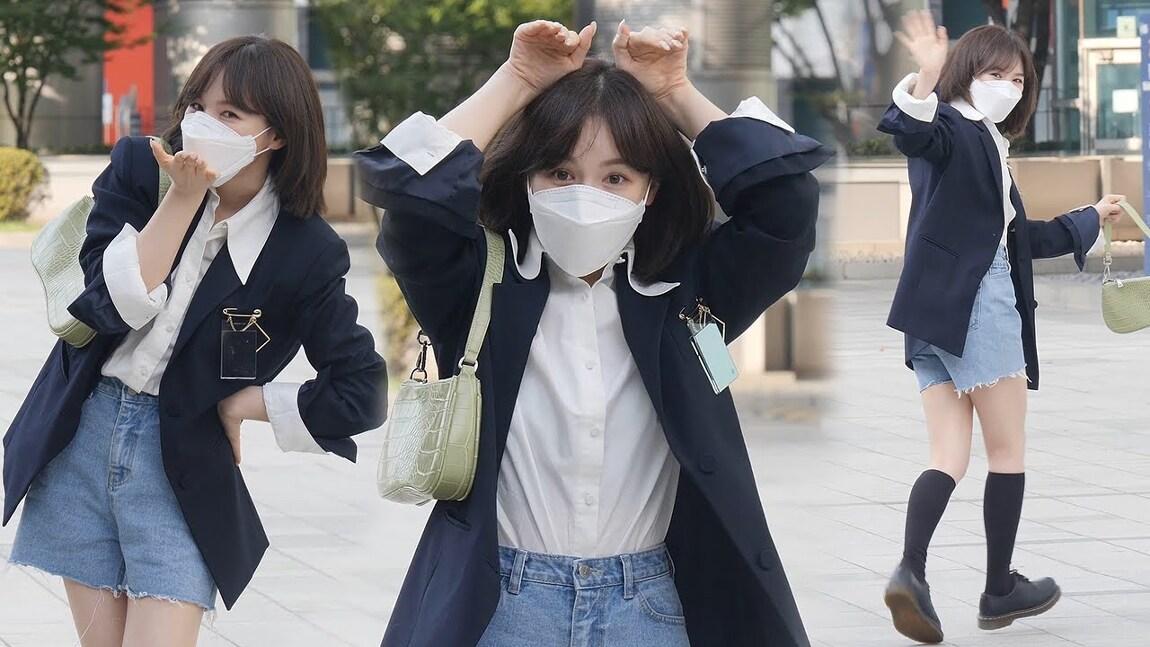 210913 영스트리트 출근길 레드벨벳 웬디 직캠 by 스피넬
