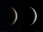 Crescent Venus and Moon  초승달 모양의 금성과 달
