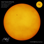 International Space Station (ISS) Solar Transit
