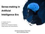 Sensemaking in the Artificial Intelligence Era!