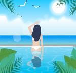 쌀쌀한 가을 어느날의 자유수영 - 20200922