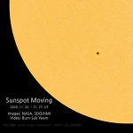 Sunspot moving (movie)  태양 흑점 움직임 2020. Nov. 22. - Nov. 27.