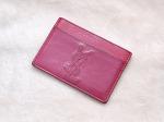 생로랑 YSL 퀼팅 카드 지갑 (핑크)