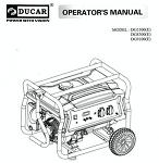 DUCAR DG8300E 발전기 매뉴얼