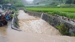 [함양폭우] 7월 30일 내린 함양 지곡면 강수량은 68mm, 마을 도로가 물바다