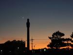 Saturn, Crescent Moon, Venus, and Jupiter  토성, 초승달, 금성, 그리고 목성