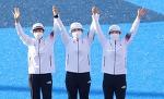 여자 양궁 단체전,'올림픽 9연패' 강채영(현대모비스), 장민희(인천대), 안산(광주여대)