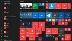 윈도우10  20H1 이상에서 새로운 시작 메뉴 아이콘 및 타일 뒷배경 없애는 방법
