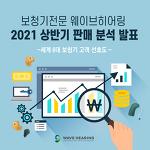[보청기 고객선호도] 웨이브히어링 전국직영점, 2021 상반기 세계 6대 보청기 브랜드 판매 분석 보고서