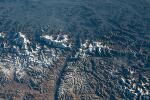 우주에서 찍은 히말라야 산맥의 풍경