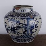 AD108. 도자기 호 -여기저기 알튐및 가마유가 보여짐- (6.1kg)