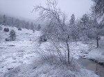 스페인 고산에는 벌써 눈이 내리네요~