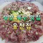 [웅천집] 부산 북구 금곡동 횟집 맛집