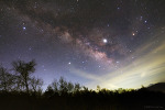 Jupiter, Saturn, and the Milky Way  목성, 토성, 그리고 은하수