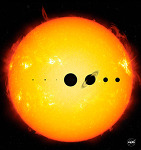 Size comparison of the Sun and the Planets