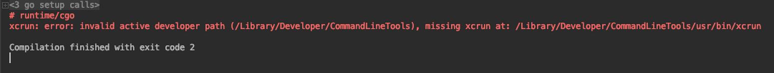 xcrun: error: invalid active developer path