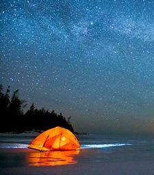 은하수를 이불 삼아<br>산에서 보내는 하룻밤