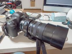 캐논과 만난 오래된 브로니카 zenzanon-PE 100-220mm 렌즈