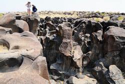 화석이 되어버린 폭포, 파슬폴(Fossil Falls) 구경하고 콜드워터 캠핑장(Coldwater Campground)으로