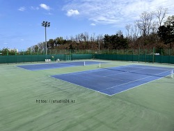 테니스, 주말에는 아들과 함께 테니스 연습