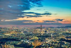 남한산성 벚꽃길과 남한산성 야경