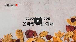 2020-11-22 주일예배, Never Stop Working, 문성은 목사님
