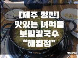 제주 성산 맛집 - 해월정 맛있는녀석들 보말칼국수,보말죽 솔직 후기