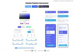 모바일 앱, 웹 디자이너를 위한 색상 팔레트 생성기