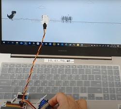 마이크로비트 이용하여 인공지능(?) 크롬 공룡게임 하기