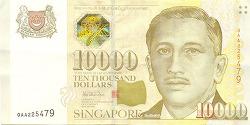 세계에서 최고로 비싼 고액화폐 1만 싱가포르 달러