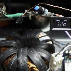 AC 스폿용접기 제작과 성능 - 링코어 2차 권선 전압과 굵기에 대하여!!