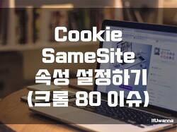 Cookie SameSite 설정하기 (Chrome 80 쿠키 이슈)