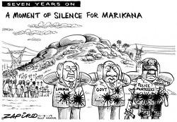 남아공에서 7년 전 발생한 마리카나 사태는 여전히 해결되지 않았다
